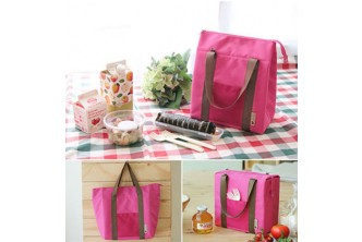 [ZiLunch Bag Box @ 60% Savings!] B$8 instead of B$19.9 for a unit of Zipper Lunch Bag Box. (Colors Avail: Green, Bllue, Grey & Pink)Redemption at SD HQ, Anggerek Desa