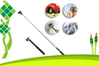 Raya Deals* [Pink Monopod @ 76% Savings!] B$6 instead of B$25 for a unit of Extendable Handheld Monopod. (for smart phones & cameras) Redemption at SD HQ, Anggerek Desa