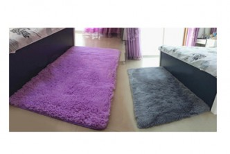 Sold Out* [1.4M x 2M Fluffy Rug @ 71% Savings!] B$45 instead of B$138 for a unit of Rectangular Velvety Rug. (Choose from Brown,Pink or Purple)