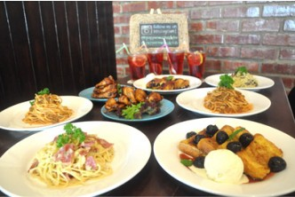 [Sungkai Meal @ 37% savings] B$49.90 instead of B$79.40 for 2x Carbonara, 2x Bolognese, 2x sets of Peppermint Chicken Wings (16 cuts), 2x French Toasts (Blueberry and Dark Cherry) w ice cream scoops, and 4x Fizzy Ribena with lemon at Peppermint Cafe