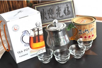 Timer Extended* [Red Tea & Teapot @ 30% Savings!] B$26.60 instead of B$38 for a stainless steel glass tea pot (450ml) and a can of red tea at Teafu Shop (C.L Unicorn), Gadong Central.